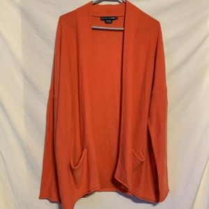 Ralph Lauren XL orange pure cashmere sweater 397a